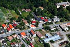 Letecký pohľad na dedinu